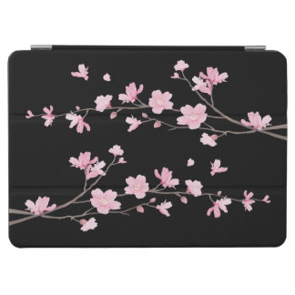 Cherry Blossom - Black iPad Air Cover