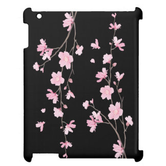 Cherry Blossom - Black iPad Cases