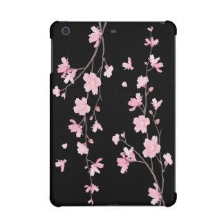 Cherry Blossom - Black iPad Mini Covers