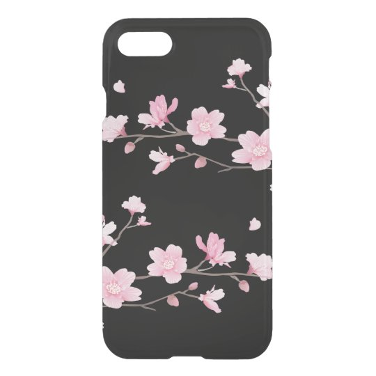 Cherry Blossom - Black iPhone 7 Case