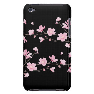 Cherry Blossom - Black iPod Touch Cover