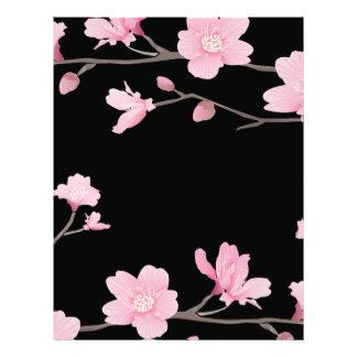 Cherry Blossom - Black Letterhead