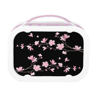 Cherry Blossom - Black Lunch Box