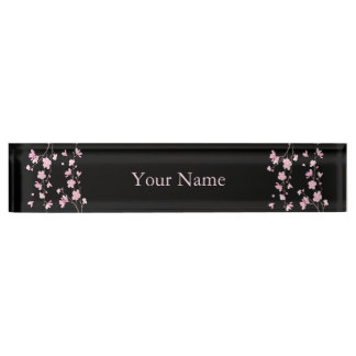 Cherry Blossom - Black Nameplate