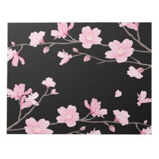 Cherry Blossom - Black Notepad