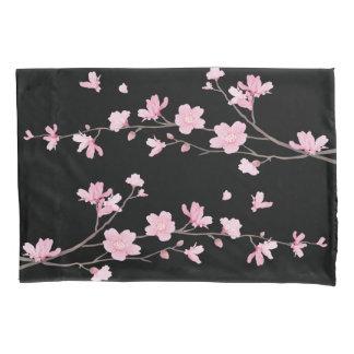 Cherry Blossom - Black Pillowcase