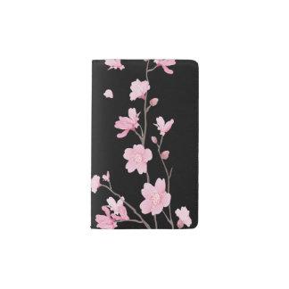 Cherry Blossom - Black Pocket Moleskine Notebook