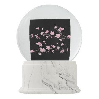 Cherry Blossom - Black Snow Globe