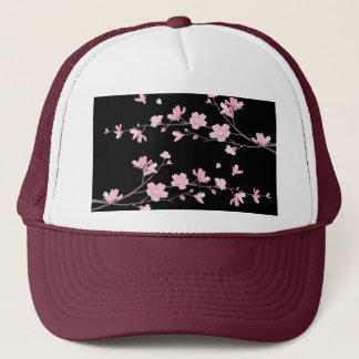 Cherry Blossom - Black Trucker Hat