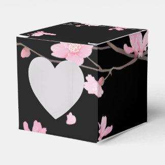 Cherry Blossom - Black Wedding Favor Box