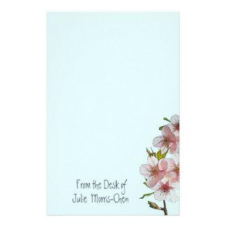Cherry Blossom Blue Stationery