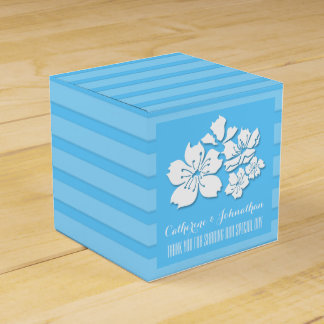 Cherry blossom blue wedding favors party favor boxes
