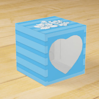 Cherry blossom blue wedding favors wedding favor box