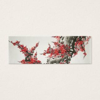 Cherry Blossom Bookmark Mini Business Card