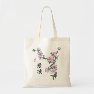 CHERRY BLOSSOM BRANCH TOTE BAG