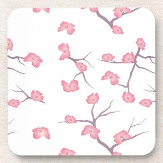 Cherry Blossom Branches Beverage Coaster