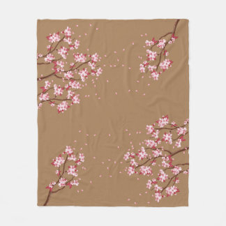 Cherry Blossom Branches Custom Fleece Blanket