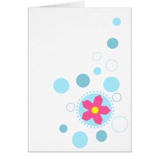 Cherry Blossom Bubbles Card