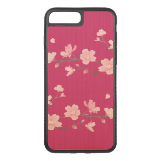 Cherry Blossom Carved iPhone 8 Plus/7 Plus Case