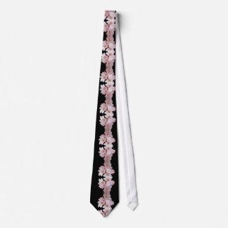 Cherry Blossom Cascade Black Tie