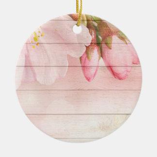 Cherry Blossom Ceramic Ornament