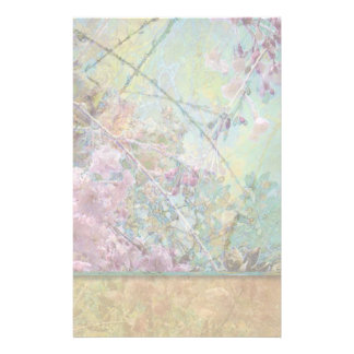 Cherry Blossom Collage Light Stationery