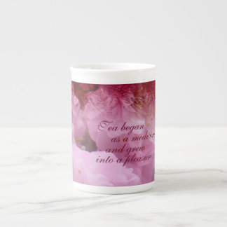 Cherry Blossom Collage Tea Quote Tea Cup