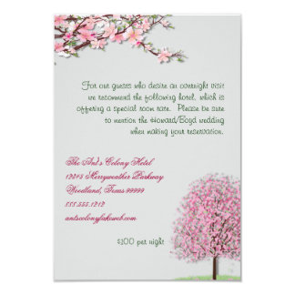 Cherry Blossom Custom  Accommodations Card