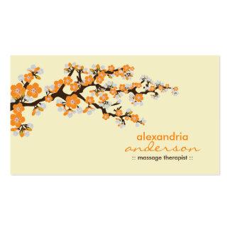 Cherry Blossom Custom Business Cards (orange)