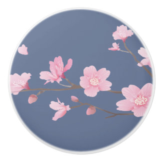 Cherry Blossom - Denim Blue Ceramic Knob
