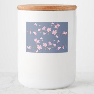 Cherry Blossom - Denim Blue Food Label