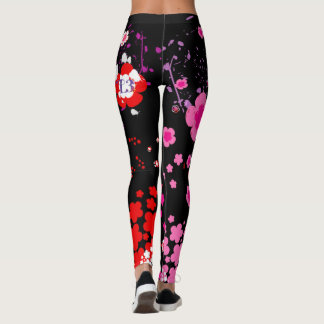 Cherry blossom design 3 leggings