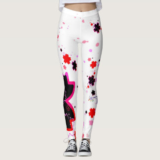 Cherry blossom design 4 leggings