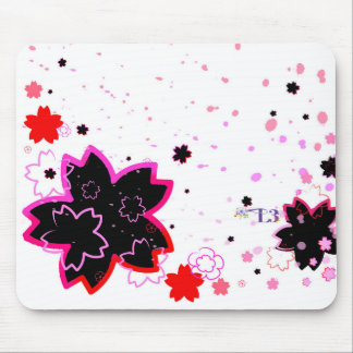 Cherry blossom design 4 mouse pad