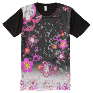 Cherry blossom design 6 All-Over-Print T-Shirt
