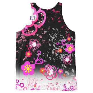 Cherry blossom design 6 All-Over-Print tank top