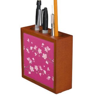 Cherry Blossom Desk Organizer