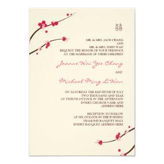 Cherry Blossom Double Happiness Invitation
