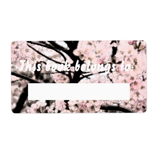 Cherry Blossom Edited Booklabel Shipping Label