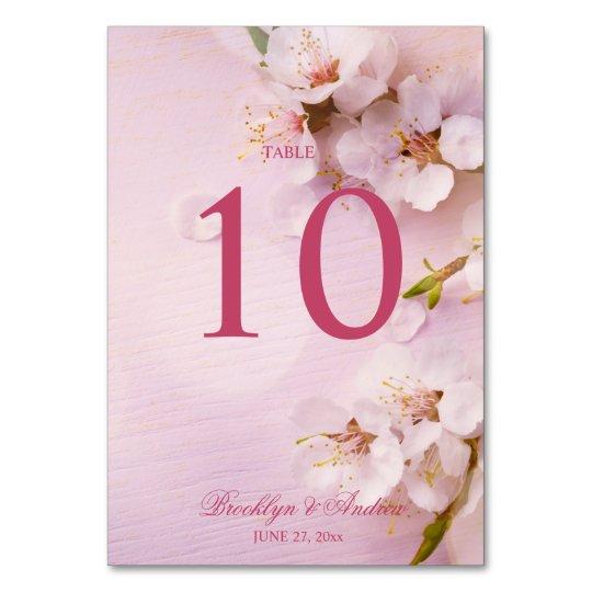 Cherry Blossom Elegant Wedding Table Numbers