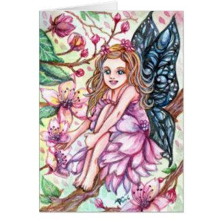 Cherry Blossom Fairy Card