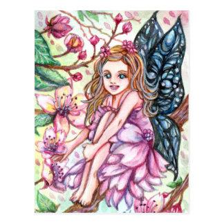 Cherry Blossom Fairy Postcard