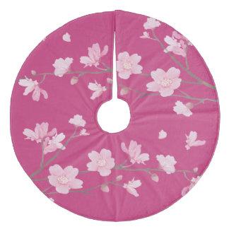 Cherry Blossom Fleece Tree Skirt