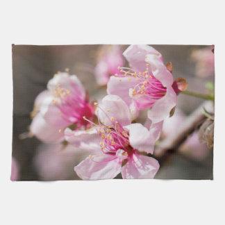 Cherry blossom floral tea towels