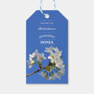 Cherry Blossom Flowers Bridal Shower Gift Tags