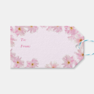 Cherry Blossom flowers Gift Tags