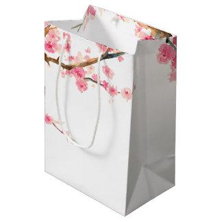 Cherry Blossom Flowers Medium Gift Bag
