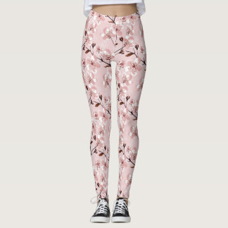 Cherry Blossom Flowers Pattern Leggings