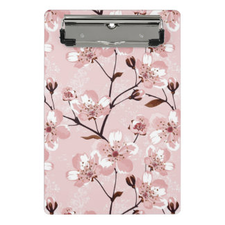 Cherry Blossom Flowers Pattern Mini Clipboard