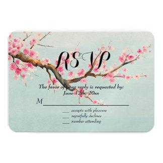 Cherry Blossom Flowers RSVP Card